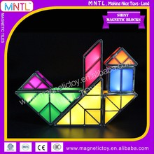 MNTL-14 Pieces Electronic Building Blocks Toys LED Light Enlighten Educational Magnetic Tangram Learning Toys For Kids