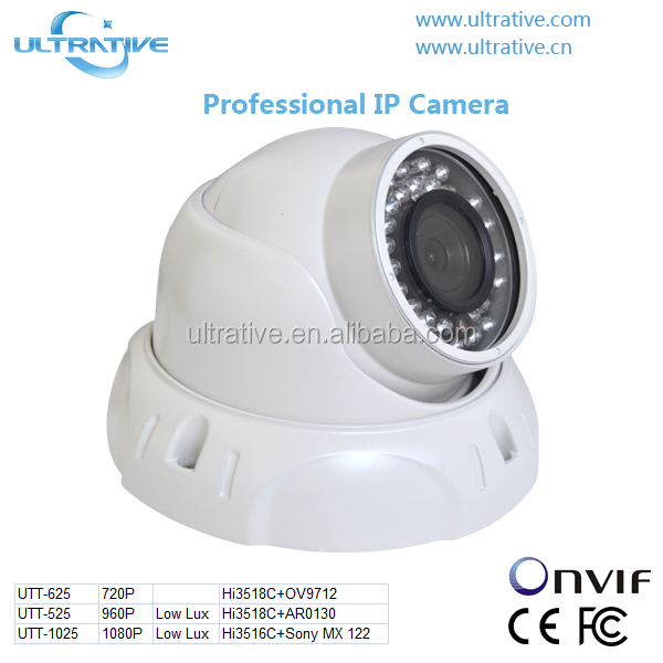 1920*1080P 2.0MP Low Lux Video P2P IP dome HD ONVIF Network IP Camera