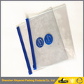 transparent plastic pvc suit garment cover bag with zipper eco friendly pvc bag/ garment packing pvc zipper bag/ small jute