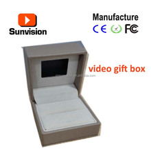Small lcd video box,video gift box for watch