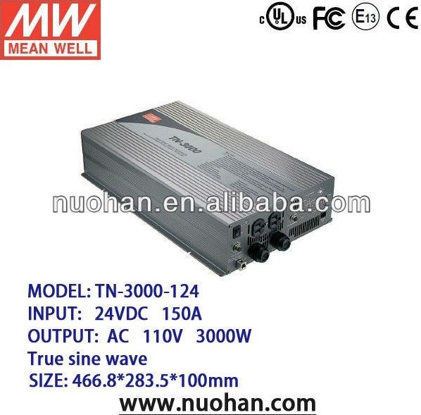 Meanwell 3000W True Sine Wave DC-AC Inverter with Solar Charger 3kw inverter/dc to ac power inverter