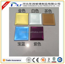 Glass colored tiles with beveled edge (3mm,4mm,5mm,6mm,8mm,10mm)