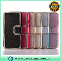 Cell phones accessories pu leather skin pouch case for iphone 4 flip cover case with card holder