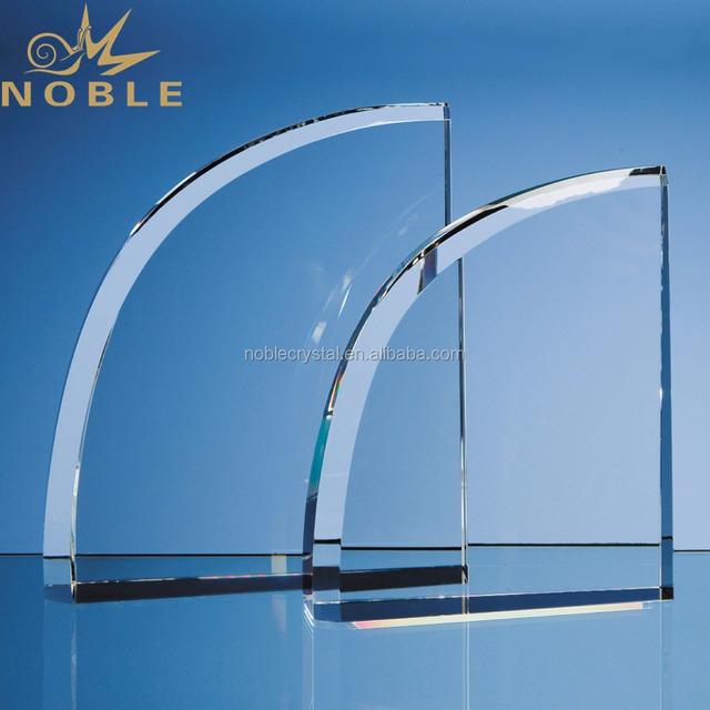 Sports Souvenir Gift Wedge Shape Plain Blank Crystal Plaque Award
