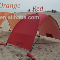 1-2 persons sun shade 190t polyester tent fabric beach folding tent