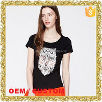 Manufacturer OEM women t shirt digital print tees water print shirts ladies t-shirt picture print