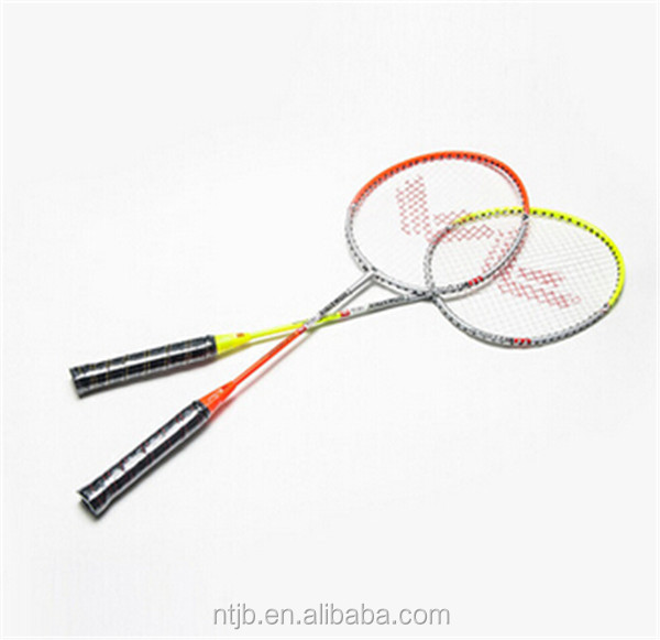 hot sale iron alloy primary after-hours durable custom printed badminton racket
