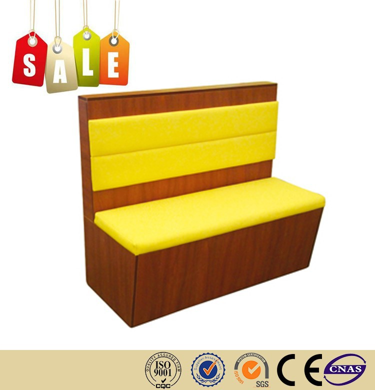 Restaurant PU walnut wood modern restaurant booth seating on sale