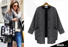 New winter single-breasted nine points sleeves flax material joker ladies' short coat