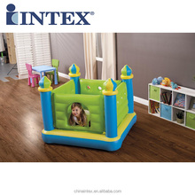 Intex 48257 Soft Inflatable Jr. Jump-O-Lene Castle Bouncer with 4 Turrets for Children