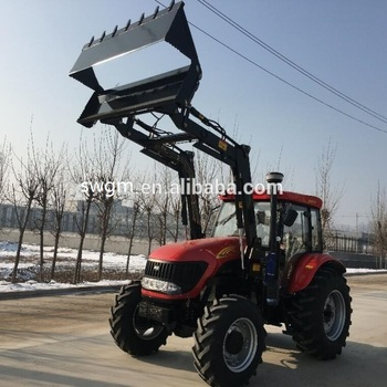 CE certificate DQ1004 100HP 4x4 4WD Tractor with TZ-10 Front end loader for sale