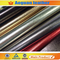 Good price big demand metal color pvc leather for bag material