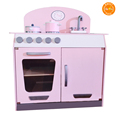 Kids Wood kitchen Toy, Little Chef Pretend Cooking Play Set toddler Wooden Toy Kitchen with Accessories