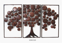 Metal Home Decor Family Tree Plaque Wall Art (3 pcs set)