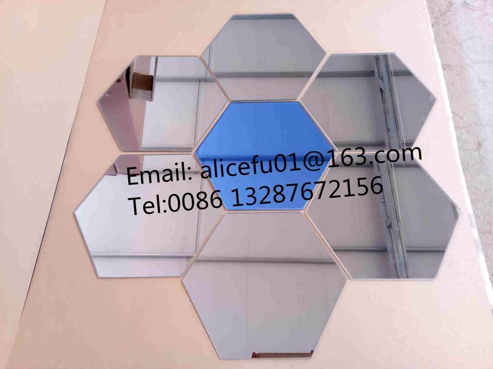 Günstige großhandel runde und hexagonal förmigen haft spiegel glas ...