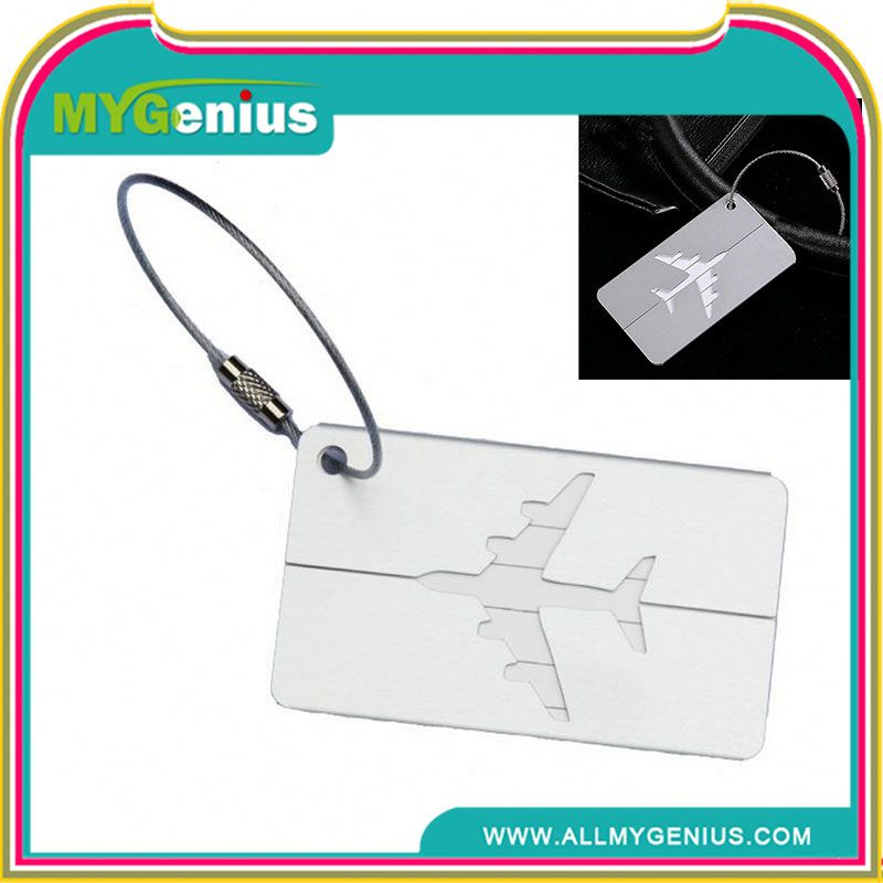 Promotional aluminum luggage tag H0Tc4v crew luggage tags
