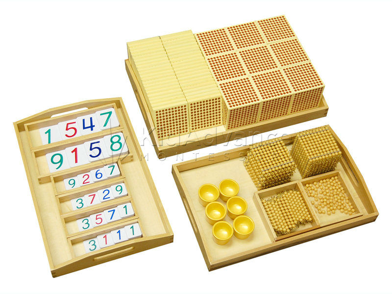 Montessori materials-Complete Golden Bead Material