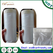 Pre- folded masking film roll with tape for painting protect