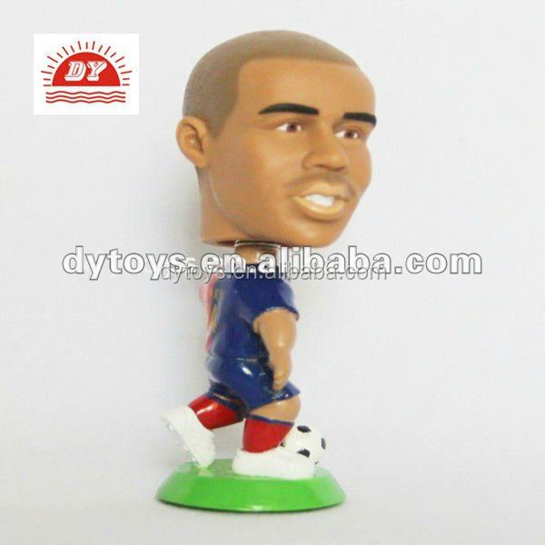 Customized Plastic Football Player Figurine, Soccer Player Model