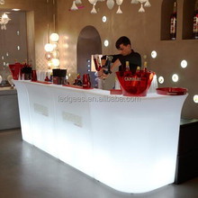 Coolqing Luminous Led Furniture Nightclub Modern Bar Counter For Sale