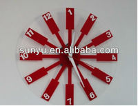 Acrylic Windmill Wall Clock