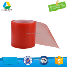 Free sample solvent acrylic adhesive red line double sided PET tape
