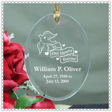 Glass Individual Memory Souvenir Ornament For Yearing Events Decoration