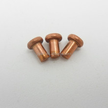 Copper solid tube rivet
