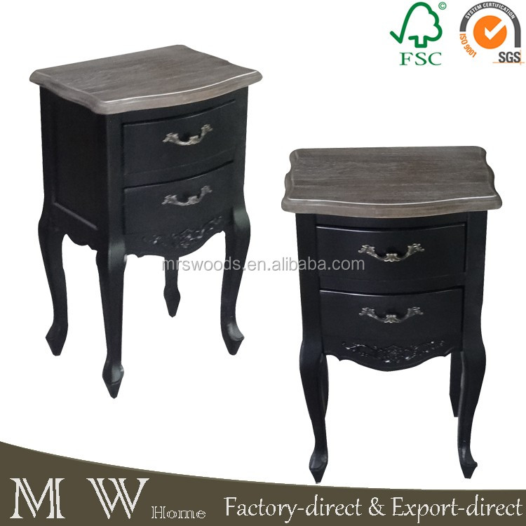 2016 Hot Sale Black Color European Style Shabby Chic Solid