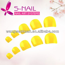 500pcs french color toe nails plain artificial nail supplier