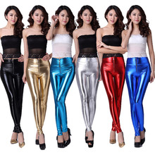 Fashion sexy Skinny ladies leather leggings