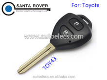 For Toyota Rav4 Corolla Hilux Remote Key Case Shell 2 Button Toy43 Blade