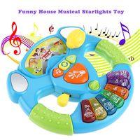 1432226-Multi-Function Steering Wheel Kids Intelligent Toy