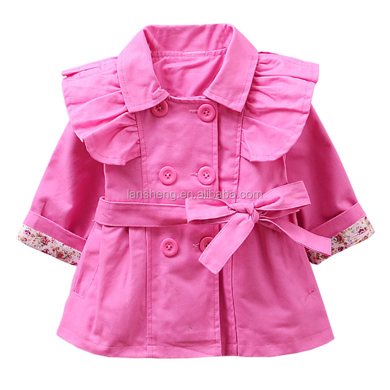 New Spring Double-breasted Kids Coat