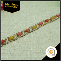Wholesaldes Design Colorful Crystal Chain Trimming