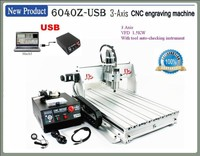 Russia free Ship& Tax! china cnc router 6040 Z-USB 3 axis 1.5KW spindle,Mach3 manual USB port metal stone woodworking machine