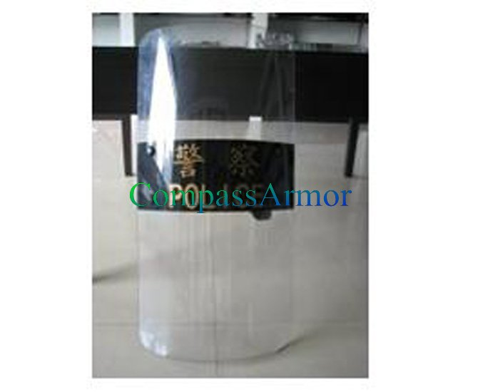 Police Riot Ballistic Shield Armour 900 x 500 x 3 / 3.5 mm for Clear View