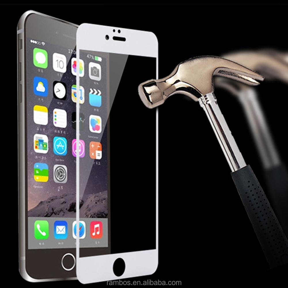 Premium 3D Curved Edge Full Cover 9H Hardness Anti-Shatter Tempered Glass Screen Protector for iPhone 6/6 Plus