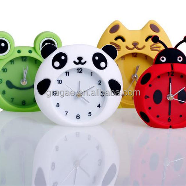 High Quality twin bell alarm clock Silicone Table Clock