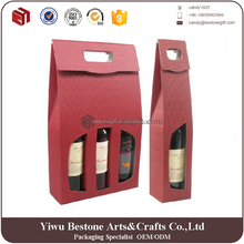 Alibaba manufacturer cheap custom 6 pack wine carrier corrugated cardboard wine bottle carrier ,wine box