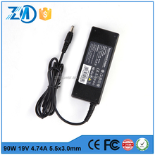 90W 19V 4.74A laptop desktop charger powerline adapter For HP