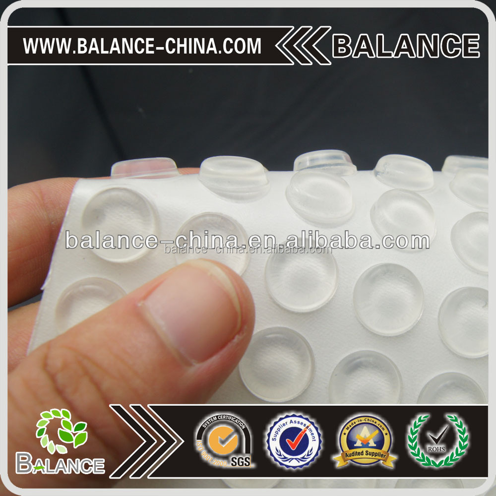 Self-Adhesive Rubber Feet Small Round Clear Bumpers