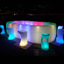 straight bar counter remote change colours LED glowing bar counter table