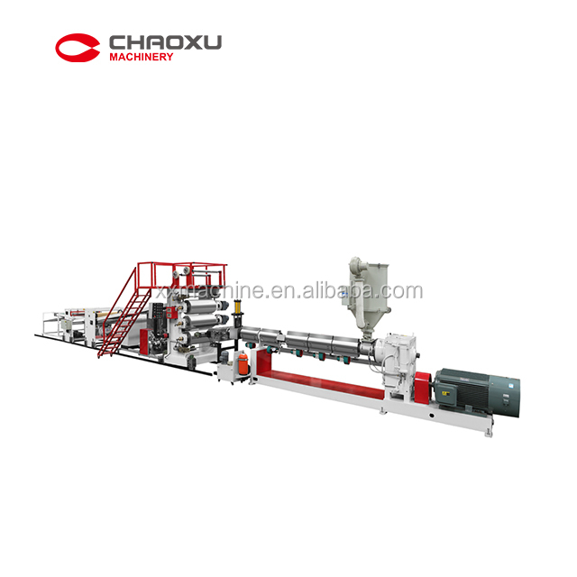 CHAOXU-Single Screw Extruder Machine ABS Plastic Sheet Plate Extrusion Line