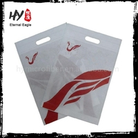 Alibaba laminated shopping bag, cheap punching non-woven pouch, laminationed nonwoven bag