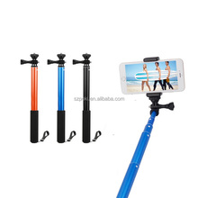 Hot Selling High Quality Aluminum Monopod Selfie-stick with Cellphone Clip for Mobile Phone and Action Camera, Max 93cm