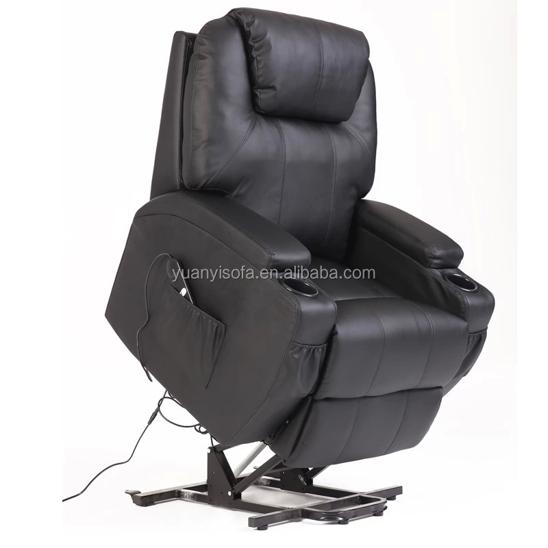 YRC1418 Electric lift leather recliner with rocking & swivel Chair