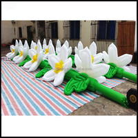 Free shipping 10m length giant inflatable flower decoration/inflatable flower chain