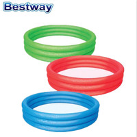 "Bestway 40""x10"" inflatable plastic splash Three-ring Play swimming Pool for kids"