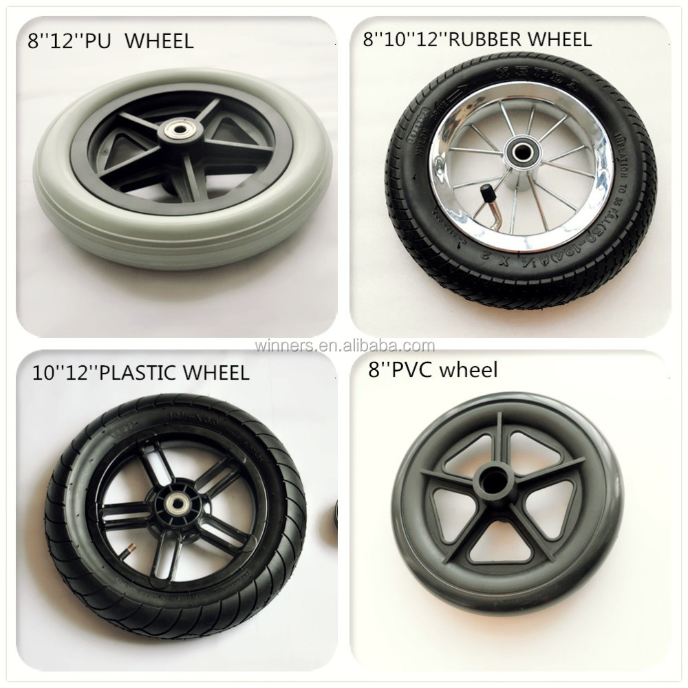 200x50 alloy hub air rubber all terrian wheelchair wheels